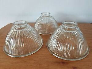 HOLOPHANE type ribbed glass shade selling singly