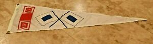 Vintage Large 41 Inch GM General Motors Flag Banner-RV-Nautical-Nylon