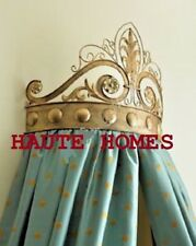 NEW Horchow Victorian Baroque Ornate Scroll GOLD Metal BED CROWN CORNICE