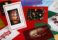 Lot of 30 Merry Christmas Happy New Year Art Printed Posters Postcard Post Cards