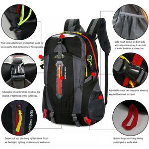 40L Mens Classic Plain Large Backpack Work Travel Rucksack Camping School Bag UK