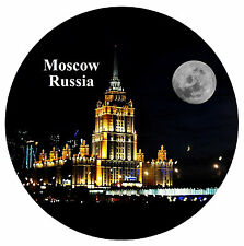 MOSCOW, RUSSIA - FUN ROUND SOUVENIR FRIDGE MAGNET - BRAND NEW - GIFT