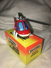 Matchbox #60 Fire Department Helicopter With Original Box