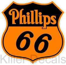 """(PHIL-1) 8"""" PHILLIPS 66 Shield GASOLINE DECALS GAS AND OIL"""