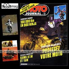MOTO JOURNAL N°769 ★ YZ 80 490 ★ YAMAHA FZ 900 PARIS-DAKAR ★ KTM 250 MX ★ 1986