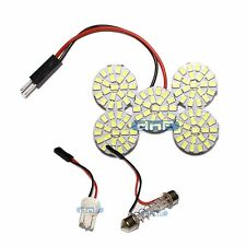 ROUND T10 Festoon PANEL BOARD LED Lamp Dome Adapter NEW White SMD Car Interior