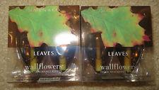 Bath & Body Works NEW Fall Wallflowers Plug In Refills Lot 4 LEAVES
