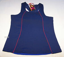One Active By Michelle Bridges Ladies Navy Blue High Impact Tank Top Size 16 New