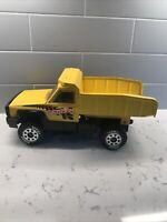 "Vintage Tonka 2001 USA Pressed Steel Construction Yellow 13.5"" Dump Truck!"