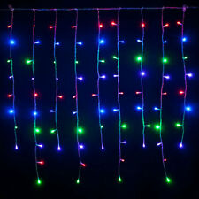 Tenda Luminosa 200 Led Multicolore Rgb 10 Metri Luci Natalizie Natale Esterno