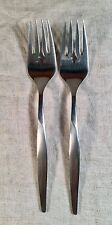 Set Of 2 Pair 1847 Rogers Bros Stainless Coronado Salad Forks