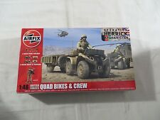 AIRFIX 1:48 British Forces Quad Bikes and Crew NEW SEALED A04701