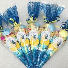 10x Beauty & The Beast  Themed Filled Party Cones Personalised +free Sweety Bag