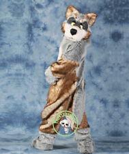 2018 High Quality Plush Simulation Fur Wolf Mascot Costumes Fancy Dress Adult