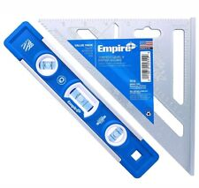 Empire 9in. Torpedo Level and 7 in. Aluminum Rafter Square Combo