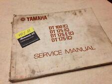 Yamaha DT 100 125 175 125E C revue technique manuel atelier workshop service