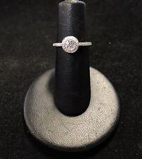 14k White Gold 1.00tcw Diamond Halo Ring (G41)