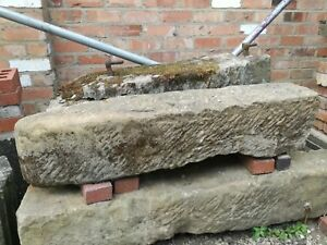 Large Antique hand carved stone gate post