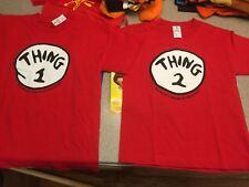 Lot Universal Kids Unisex RedYouth Small Medium One Thing Two T-shirts Halloween