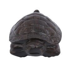 Hand Craft Lucky Turtle Natural Carved Wooden Animal Office Home Stand S