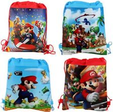 1pc Super Mario Non-woven Children Swim Drawstring Bag  utility