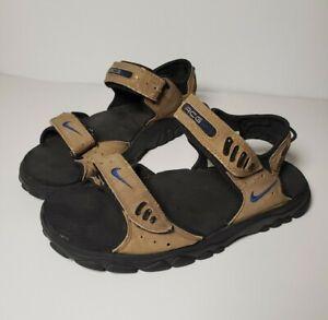 Nike ACG Mens Brown Leather Adjustable Vintage Sandal Shoes US 8
