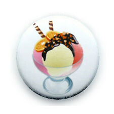 Button Pin Badge Strawberry Vanilla Ice cup Yummy kawaii delicious - 1inch Ø25mm