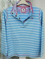 ( Ref 1644 ) Dash - Size 18 - Ladies Blue & White Long Sleeve Striped Top