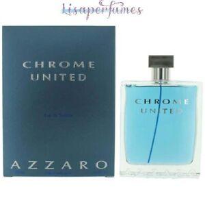Chrome United by Loris Azzaro for Men 6.8oz Eau De Toilette Spray NIB