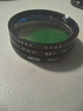 Vintage 35 mm Camera accessories Filter Lot 52mm Samigon ,Hoya, Pro, green
