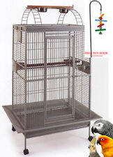 """78"""" Open PlayTop Double Ladder Parrot Cage Cockatiel Macaw Conure Aviary ToyHood"""