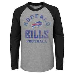 Buffalo Bills NFL Youth Boys Gridiron Long Sleeve Tee, Size Medium 8/10 - NWT