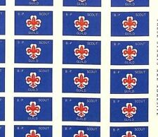 WW73 GB SCOUTING *B.P Scout Guild* 1980s Adhesive Stamps{24} {samwells-covers}