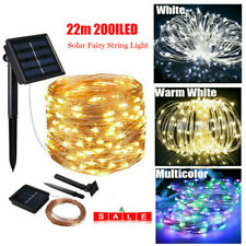 200LED 22M Solar Fairy String Lights Copper Wire Outdoor Waterproof Garden Party