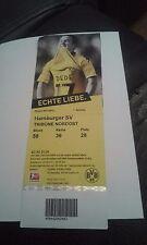 Ticket Borussia Dortmund 09 - Hamburger SV, Sammelkarte, DFB, HSV, Ultras, BVB