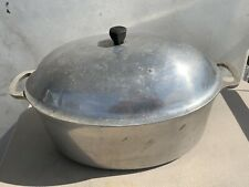 """Vintage Majestic Cookware Roaster 16"""" X 10"""" X 5"""" with Domed Lid"""