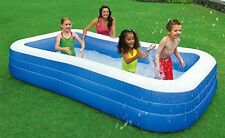 """Kids Inflatable Swimming Pool Play After School NEW Family Size 22"""" Deep Ages 6+"""