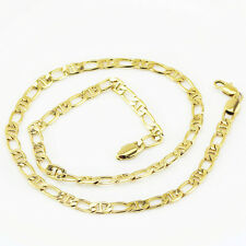 Luxury Mens Jewellery 18 k Gold Plated Necklace for Men Chain Wide 6 mm N300
