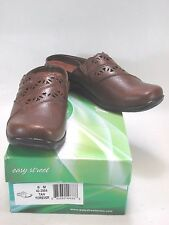 EASY STREET Womens FOREVER Synthetic Leather Tan Mules Size 8 M