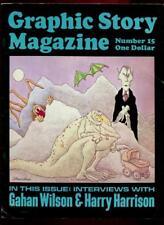 GRAPHIC STORY MAGAZINE #15 1973 Fanzine, Gahan Wilon