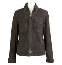 ALLSAINTS Sz XL Mens Oakley Suede Goatskin Leather Jacket Brown