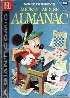 Mickey Mouse Almanac #1 1957 Good+ (2.5) Barks Art. Dell Giant
