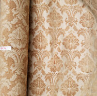 "Linen gold, Damask Floral Traditional Print Upholstery Fabric, 54"" wide, sold by"