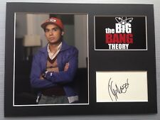 [A0768] Kunal Nayyar The Big Bang Theory Signed 12x16 Display AFTAL