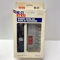 Vintage Akai RC-21 Wired Remote for GX-77/GX-646/GX-747/GX-F95/GX-F60R Tape Deck