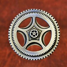 Steampunk Clock Gear Brooch Made with Fine Lead-Free Pewter
