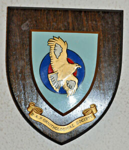 Royal Air Force Ornithological Society wall plaque shield crest RAF