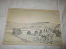 um 1939 Organisation Todt - Reichsautobahn Brücke in Mitteldeutschland
