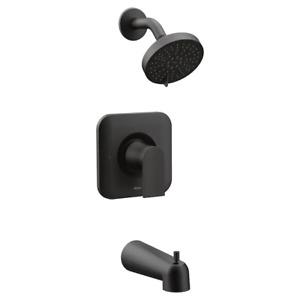 Moen T2473EPBL Genta Posi-Temp Pressure Balance Tub Shower Trim Kit Black