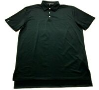 Ralph Lauren RLX Mens Black Short Sleeve Golf Polo Shirt Size Large
